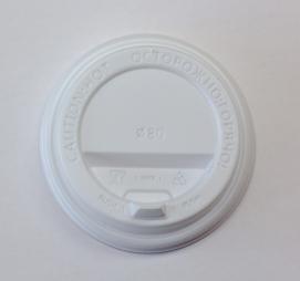 Крышка ПС с клапаном d=90мм белая (100 шт.)