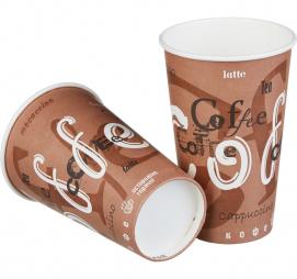 Стакан бумажный 1сл 400 (518) мл d=90мм для горячего Coffee (50 шт.)